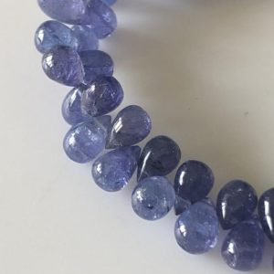 Shop Tanzanite Bead Shapes! 6mm To 7mm Natural Tanzanite Smooth Teardrop Briolette Beads, Tanzanite Drop Beads, Tanzanite Jewelry, Tanzanite Stone, Gds1705 | Natural genuine other-shape Tanzanite beads for beading and jewelry making.  #jewelry #beads #beadedjewelry #diyjewelry #jewelrymaking #beadstore #beading #affiliate #ad