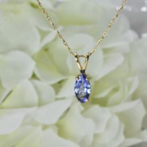 Shop Tanzanite Pendants! NATURAL TANZANITE NECKLACE, Ready to ship gift, Dainty Tanzanite pendant, Jewelry gift, December birthstone, Marquise shape, Birthday gift | Natural genuine Tanzanite pendants. Buy crystal jewelry, handmade handcrafted artisan jewelry for women.  Unique handmade gift ideas. #jewelry #beadedpendants #beadedjewelry #gift #shopping #handmadejewelry #fashion #style #product #pendants #affiliate #ad