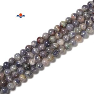 """Tanzanite Smooth Round Beads 5mm 6mm 7mm 8mm 9mm 10mm 11mm 12mm 14mm 15.5""""Strand 