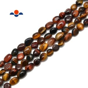 Shop Tiger Eye Chip & Nugget Beads! Multi Tiger Eye Pebble Nugget Beads Size Approx 6x8mm 15.5'' Strand | Natural genuine chip Tiger Eye beads for beading and jewelry making.  #jewelry #beads #beadedjewelry #diyjewelry #jewelrymaking #beadstore #beading #affiliate #ad