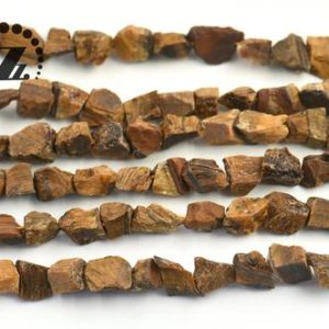 """Shop Tiger Eye Chip & Nugget Beads! Yellow Tiger Eye,rough nugget beads,Cut Nugget,Chunky Nugget,diy beads,natural,Beautiful beads,5-10×8-13mm,15"""" full strand 