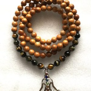 Shop Tiger Eye Necklaces! Yoga Wrap Mala Beads Necklace, Tiger Eye 108 Wrap Mala Beads, brown Wrap Mala, Wooden Wrap Mala , Tigers Eye Wrap Mala, Stretch Mala Beads | Natural genuine Tiger Eye necklaces. Buy crystal jewelry, handmade handcrafted artisan jewelry for women.  Unique handmade gift ideas. #jewelry #beadednecklaces #beadedjewelry #gift #shopping #handmadejewelry #fashion #style #product #necklaces #affiliate #ad
