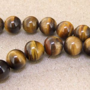"""Shop Tiger Eye Beads! One Full Strand — Charm AB  Yellow Tiger Eye Stone Gemstone Beads— 12mm 14mm 16mm  —-about 33Pieces—- 15.5"""" in length 