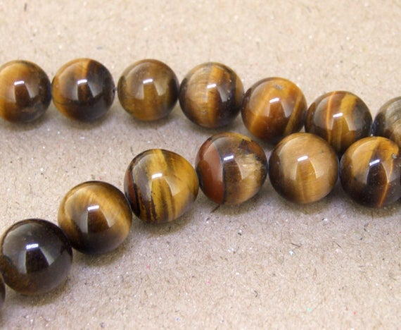"""One Full Strand -- Charm Ab  Yellow Tiger Eye Stone Gemstone Beads--- 12mm 14mm 16mm  ----about 33pieces---- 15.5"""" In Length"""