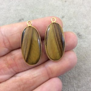 """Shop Tiger Eye Pendants! Brown Tiger Eye Bezels 