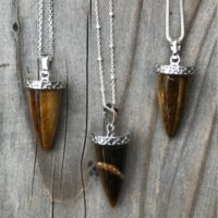 Tigers Eye Necklace / Tigers Eye Pendant / Tigers Eye Jewelry / Stone Of Protection / Silver Tigers Eye Necklace / Sterling Silver   Natural genuine Gemstone jewelry. Buy crystal jewelry, handmade handcrafted artisan jewelry for women.  Unique handmade gift ideas. #jewelry #beadedjewelry #beadedjewelry #gift #shopping #handmadejewelry #fashion #style #product #jewelry #affiliate #ad