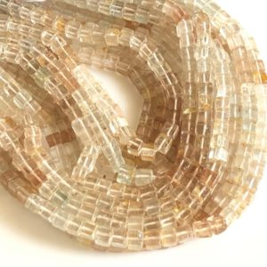 """Shop Topaz Bead Shapes! Imperial Topaz Copper Topaz Smooth Box Beads, 5mm Natural Imperial Topaz Copper Topaz Loose Box Beads, Sold As 10""""/5"""", GDS1746 
