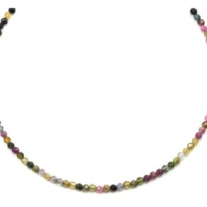 Shop Tourmaline Necklaces! Multi Colored Tourmaline Necklace Natural Earthy Solid Strand Dainty Small Sterling Silver 14k Gold Filled Micro Faceted 18 19 Inches Simple | Natural genuine Tourmaline necklaces. Buy crystal jewelry, handmade handcrafted artisan jewelry for women.  Unique handmade gift ideas. #jewelry #beadednecklaces #beadedjewelry #gift #shopping #handmadejewelry #fashion #style #product #necklaces #affiliate #ad