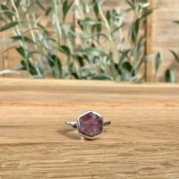 Raw Tourmaline Silver Ring, Women's Gemstone Jewellery, Pink Stone Boho Silver | Natural genuine Gemstone jewelry. Buy crystal jewelry, handmade handcrafted artisan jewelry for women.  Unique handmade gift ideas. #jewelry #beadedjewelry #beadedjewelry #gift #shopping #handmadejewelry #fashion #style #product #jewelry #affiliate #ad