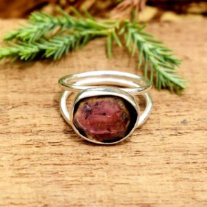 Shop Watermelon Tourmaline Rings! Tourmaline Ring Women's Ring Watermelon Tourmaline Ring Gift For Her 925 Sterling Silver Ring Pink Tourmaline Ring Wedding Anniversary Ring | Natural genuine Watermelon Tourmaline rings, simple unique alternative gemstone engagement rings. #rings #jewelry #bridal #wedding #jewelryaccessories #engagementrings #weddingideas #affiliate #ad