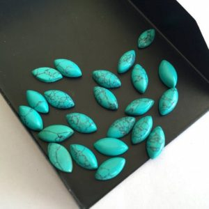 Shop Turquoise Stones & Crystals! 40 Pieces 10x5mm Turquoise Marquise Shaped Smooth Flat Back Loose Cabochon Lot TR7 | Natural genuine stones & crystals in various shapes & sizes. Buy raw cut, tumbled, or polished gemstones for making jewelry or crystal healing energy vibration raising reiki stones. #crystals #gemstones #crystalhealing #crystalsandgemstones #energyhealing #affiliate #ad