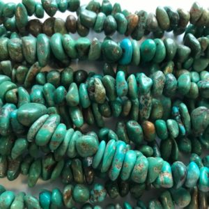 Shop Turquoise Chip & Nugget Beads! 100% Natural Turquoise Nugget (4-6)x2mm Natural Gemstone Bead -15 Inch Strand–1 Strand / 3 Strands | Natural genuine chip Turquoise beads for beading and jewelry making.  #jewelry #beads #beadedjewelry #diyjewelry #jewelrymaking #beadstore #beading #affiliate #ad