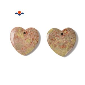 Shop Unakite Pendants! Light Green Unakite Heart Shape Pendant Size 45mm 50mm Sold per Piece | Natural genuine Unakite pendants. Buy crystal jewelry, handmade handcrafted artisan jewelry for women.  Unique handmade gift ideas. #jewelry #beadedpendants #beadedjewelry #gift #shopping #handmadejewelry #fashion #style #product #pendants #affiliate #ad