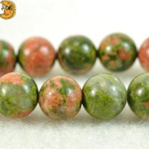 Unakite,15 inch full strand Unakite smooth round beads 6mm 8mm 10mm 12mm 14mm for Choice | Natural genuine round Gemstone beads for beading and jewelry making.  #jewelry #beads #beadedjewelry #diyjewelry #jewelrymaking #beadstore #beading #affiliate #ad