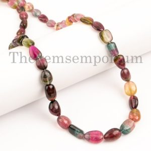 Shop Watermelon Tourmaline Beads! Natural Watermelon Tourmaline Necklace, Tourmaline Nuggets Necklace, Extremely Rare Tourmaline Nuggets Necklace, Necklaces For Women | Natural genuine chip Watermelon Tourmaline beads for beading and jewelry making.  #jewelry #beads #beadedjewelry #diyjewelry #jewelrymaking #beadstore #beading #affiliate #ad