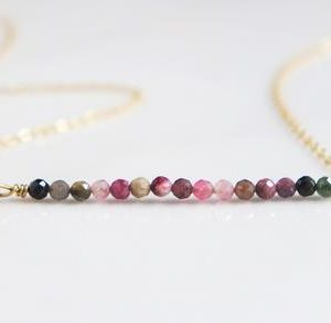 Shop Watermelon Tourmaline Necklaces! Watermelon Tourmaline Necklace – Tourmaline Necklace – October Birthstone Necklace –  Dainty Tourmaline Necklace –  Gemstone Necklace – Gift | Natural genuine Watermelon Tourmaline necklaces. Buy crystal jewelry, handmade handcrafted artisan jewelry for women.  Unique handmade gift ideas. #jewelry #beadednecklaces #beadedjewelry #gift #shopping #handmadejewelry #fashion #style #product #necklaces #affiliate #ad