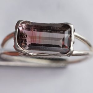 Shop Watermelon Tourmaline Rings! Watermelon Tourmaline Ring | Natural genuine Watermelon Tourmaline rings, simple unique handcrafted gemstone rings. #rings #jewelry #shopping #gift #handmade #fashion #style #affiliate #ad