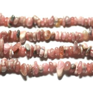 Shop Rhodochrosite Chip & Nugget Beads! Wire 89cm 350pc env – Pearls of Stone – Rhodochrosite Argentina Rocailles Chips 4-10mm | Natural genuine chip Rhodochrosite beads for beading and jewelry making.  #jewelry #beads #beadedjewelry #diyjewelry #jewelrymaking #beadstore #beading #affiliate #ad