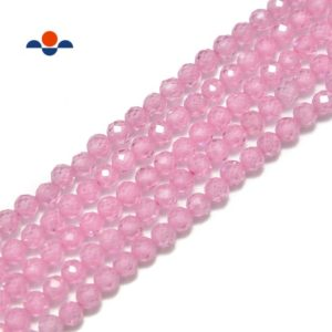 Shop Zircon Beads! Pink Cubic Zirconia Faceted Round Beads 2mm 3mm 4mm 15.5'' Strand   Natural genuine faceted Zircon beads for beading and jewelry making.  #jewelry #beads #beadedjewelry #diyjewelry #jewelrymaking #beadstore #beading #affiliate #ad