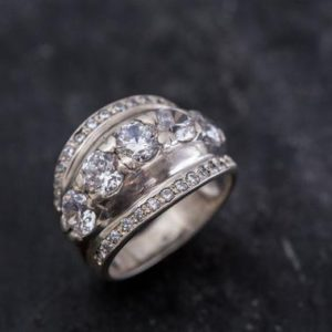 Shop Zircon Rings! Unique Diamond Ring, Created Diamond Ring, Sparkly Ring, Diamond Ring, Vintage Ring, Wide Ring Design, Zircon Ring, Solid Silver, Diamond   Natural genuine Zircon rings, simple unique handcrafted gemstone rings. #rings #jewelry #shopping #gift #handmade #fashion #style #affiliate #ad