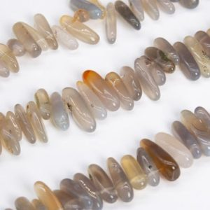 """Shop Agate Chip & Nugget Beads! 12-24×3-5MM Gray Agate Beads Stick Pebble Chip Grade AAA Genuine Natural Gemstone Loose Beads 15.5"""" / 7.5"""" Bulk Lot Options (111261) 