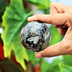 Shop Agate Shapes! Natural Black Botswana Agate Large 60MM Healing Power Metaphysical Meditation Sphere Ball | Natural genuine stones & crystals in various shapes & sizes. Buy raw cut, tumbled, or polished gemstones for making jewelry or crystal healing energy vibration raising reiki stones. #crystals #gemstones #crystalhealing #crystalsandgemstones #energyhealing #affiliate #ad