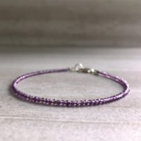 Lavender Amethyst Bracelet | Delicate Tiny Stone Bracelet | Healing Crystal Jewelry | Dainty Light Purple Bracelet | Natural genuine Gemstone jewelry. Buy crystal jewelry, handmade handcrafted artisan jewelry for women.  Unique handmade gift ideas. #jewelry #beadedjewelry #beadedjewelry #gift #shopping #handmadejewelry #fashion #style #product #jewelry #affiliate #ad