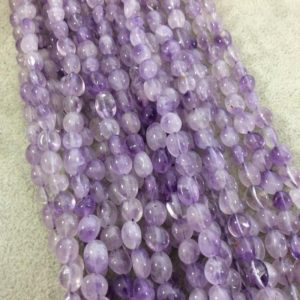 """Shop Amethyst Chip & Nugget Beads! Natural Light Amethyst Freeform Nugget Shape Beads with 1mm Holes – Sold by 15.5"""" Strands (Approx. 49 Beads) – Measuring 5-8mm Long, Approx. 