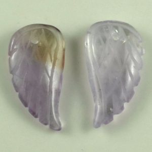 11X6MM  Amethyst Gemstone Carved Angel Wing Beads BULK LOT 2,6,12,24,48 (90187147-001) | Natural genuine other-shape Gemstone beads for beading and jewelry making.  #jewelry #beads #beadedjewelry #diyjewelry #jewelrymaking #beadstore #beading #affiliate #ad