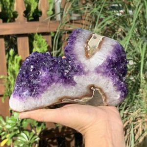 """Shop Raw & Rough Amethyst Stones! 7"""" 18 cm Polished Edge Amethyst Cluster, Amethyst Geode, Raw Amethyst, Standing Amethyst Geode, Crystal Cluster #1972   Natural genuine stones & crystals in various shapes & sizes. Buy raw cut, tumbled, or polished gemstones for making jewelry or crystal healing energy vibration raising reiki stones. #crystals #gemstones #crystalhealing #crystalsandgemstones #energyhealing #affiliate #ad"""