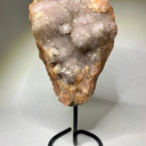 Shop Raw & Rough Amethyst Stones! Pink Amethyst Cluster on Stand | Natural genuine stones & crystals in various shapes & sizes. Buy raw cut, tumbled, or polished gemstones for making jewelry or crystal healing energy vibration raising reiki stones. #crystals #gemstones #crystalhealing #crystalsandgemstones #energyhealing #affiliate #ad
