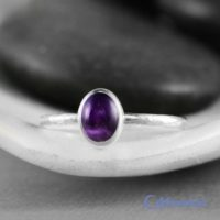 Dainty Oval Amethyst Promise Ring, Sterling Silver Amethyst Ring, Oval Amethyst Stacking Ring | Moonkist Designs | Natural genuine Gemstone jewelry. Buy crystal jewelry, handmade handcrafted artisan jewelry for women.  Unique handmade gift ideas. #jewelry #beadedjewelry #beadedjewelry #gift #shopping #handmadejewelry #fashion #style #product #jewelry #affiliate #ad