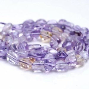 Shop Ametrine Chip & Nugget Beads! 6-8MM  Ametrine Gemstone Pebble Nugget Granule Loose Beads 7.5 inch Half Strand (80001950 H-A32)   Natural genuine chip Ametrine beads for beading and jewelry making.  #jewelry #beads #beadedjewelry #diyjewelry #jewelrymaking #beadstore #beading #affiliate #ad