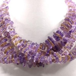 """Shop Ametrine Chip & Nugget Beads! Christmas Sale 15"""" Long Natural Ametrine Gemstone, smooth Nuggets Chips Beautiful Necklace, 11-16 Mm , Making Jewelry Wholesale Price   Natural genuine chip Ametrine beads for beading and jewelry making.  #jewelry #beads #beadedjewelry #diyjewelry #jewelrymaking #beadstore #beading #affiliate #ad"""