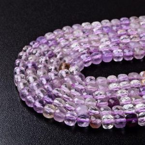 Shop Ametrine Faceted Beads! 5MM  Ametrine Gemstone Grade A Micro Faceted Square Cube Loose Beads BULK LOT 1,2,6,12 and 50 (P6)   Natural genuine faceted Ametrine beads for beading and jewelry making.  #jewelry #beads #beadedjewelry #diyjewelry #jewelrymaking #beadstore #beading #affiliate #ad