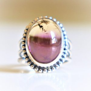 Shop Ametrine Rings! Ametrine Ring-Handmade Jewelry-925 Sterling Silver Ring-Promise Ring,Christmas Gift-Purple Amethyst and Citrine combination Ring,Navajo Ring | Natural genuine Ametrine rings, simple unique handcrafted gemstone rings. #rings #jewelry #shopping #gift #handmade #fashion #style #affiliate #ad