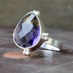 Shop Ametrine Rings! Ametrine ring, Pear Faceted Citrine, Amethyst Ring , 925 sterling silver Ring, 14K Yellow Gold Fill, Rose Gold Fill Jewelry | Natural genuine Ametrine rings, simple unique handcrafted gemstone rings. #rings #jewelry #shopping #gift #handmade #fashion #style #affiliate #ad