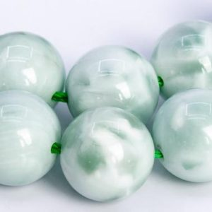 Shop Angelite Beads! 30 / 15 Pcs – 12MM Green Angelite Beads Grade AAA Genuine Natural Round Gemstone Loose Beads (112956) | Natural genuine round Angelite beads for beading and jewelry making.  #jewelry #beads #beadedjewelry #diyjewelry #jewelrymaking #beadstore #beading #affiliate #ad