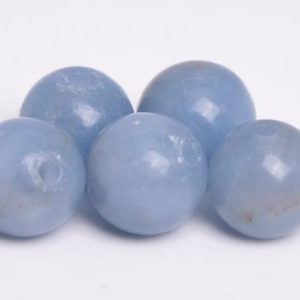 69 / 32 Pcs – 6MM Blue Angelite Beads Grade A Genuine Natural Round Gemstone Loose Beads (105100) | Natural genuine beads Array beads for beading and jewelry making.  #jewelry #beads #beadedjewelry #diyjewelry #jewelrymaking #beadstore #beading #affiliate #ad