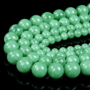 Shop Angelite Beads! Natural Deep Green Angelite Gemstone Grade AAA Round 6MM 8MM 10MM 12MM Loose Beads (A297) | Natural genuine round Angelite beads for beading and jewelry making.  #jewelry #beads #beadedjewelry #diyjewelry #jewelrymaking #beadstore #beading #affiliate #ad