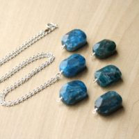 Apatite Necklace . Healing Crystal Necklace Sterling Silver . Motivation Necklace . Faceted Gemstone Necklace Pendant New | Natural genuine Gemstone jewelry. Buy crystal jewelry, handmade handcrafted artisan jewelry for women.  Unique handmade gift ideas. #jewelry #beadedjewelry #beadedjewelry #gift #shopping #handmadejewelry #fashion #style #product #jewelry #affiliate #ad