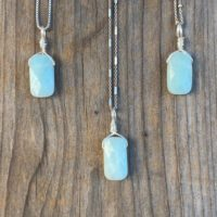 Chakra Jewelry / Aquamarine / Aquamarine Necklace / Raw Aquamarine / Aquamarine Jewelry / Aquamarine Pendant / Sterling Silver | Natural genuine Gemstone jewelry. Buy crystal jewelry, handmade handcrafted artisan jewelry for women.  Unique handmade gift ideas. #jewelry #beadedjewelry #beadedjewelry #gift #shopping #handmadejewelry #fashion #style #product #jewelry #affiliate #ad