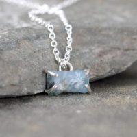 March Birthstone Necklace – Aquamarine Pendant – Raw Uncut Blue Aquamarine – Gemstone Jewellery Made In Canada – Sterling Silver | Natural genuine Gemstone jewelry. Buy crystal jewelry, handmade handcrafted artisan jewelry for women.  Unique handmade gift ideas. #jewelry #beadedjewelry #beadedjewelry #gift #shopping #handmadejewelry #fashion #style #product #jewelry #affiliate #ad