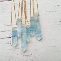 Aquamarine Necklace Aquamarine Pendant Necklace Aquamarine Jewelry Gemstone Necklace | Natural genuine Gemstone jewelry. Buy crystal jewelry, handmade handcrafted artisan jewelry for women.  Unique handmade gift ideas. #jewelry #beadedjewelry #beadedjewelry #gift #shopping #handmadejewelry #fashion #style #product #jewelry #affiliate #ad