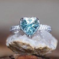 Aquamarine Engagement Ring – Adeline Ring With 9mm Heart Cut Aquamarine By Laurie Sarah – Ls5289 | Natural genuine Gemstone jewelry. Buy handcrafted artisan wedding jewelry.  Unique handmade bridal jewelry gift ideas. #jewelry #beadedjewelry #gift #crystaljewelry #shopping #handmadejewelry #wedding #bridal #jewelry #affiliate #ad