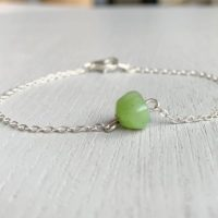 Raw Aventurine Bracelet, Green Bracelet, Dainty Crystal Bracelet, Yoga Bracelet, Healing Gift For Her, Gift For Mom, Bridesmaid Bracelets | Natural genuine Gemstone jewelry. Buy crystal jewelry, handmade handcrafted artisan jewelry for women.  Unique handmade gift ideas. #jewelry #beadedjewelry #beadedjewelry #gift #shopping #handmadejewelry #fashion #style #product #jewelry #affiliate #ad