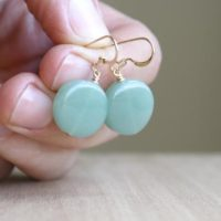 Green Aventurine Earrings Gold . Green Stone Earrings Dangle New | Natural genuine Gemstone jewelry. Buy crystal jewelry, handmade handcrafted artisan jewelry for women.  Unique handmade gift ideas. #jewelry #beadedjewelry #beadedjewelry #gift #shopping #handmadejewelry #fashion #style #product #jewelry #affiliate #ad