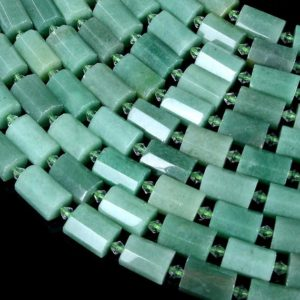 Shop Aventurine Faceted Beads! 17-19X11-13MM Green Aventurine Gemstone Faceted Round Tube Loose Beads (S12) | Natural genuine faceted Aventurine beads for beading and jewelry making.  #jewelry #beads #beadedjewelry #diyjewelry #jewelrymaking #beadstore #beading #affiliate #ad