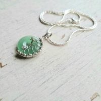 Aventurine Necklace, Fossil Necklace, Aventurine Chakra Necklace, Unusual Ammonite Necklace Gift For Her, Crystal Necklace. | Natural genuine Gemstone jewelry. Buy crystal jewelry, handmade handcrafted artisan jewelry for women.  Unique handmade gift ideas. #jewelry #beadedjewelry #beadedjewelry #gift #shopping #handmadejewelry #fashion #style #product #jewelry #affiliate #ad