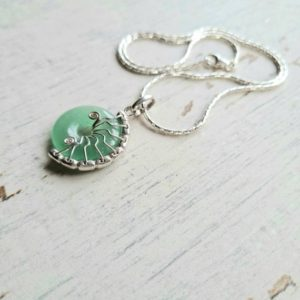 Shop Aventurine Necklaces! Aventurine necklace, fossil necklace, Aventurine chakra necklace, unusual ammonite necklace gift for her, crystal necklace. | Natural genuine Aventurine necklaces. Buy crystal jewelry, handmade handcrafted artisan jewelry for women.  Unique handmade gift ideas. #jewelry #beadednecklaces #beadedjewelry #gift #shopping #handmadejewelry #fashion #style #product #necklaces #affiliate #ad